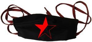 Mundmaske: Schwarz/roter Stern
