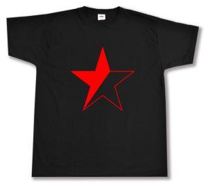 T-Shirt: Schwarz/roter Stern
