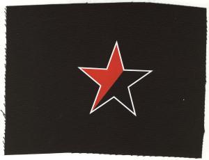 Aufnäher: Schwarz/roter Stern