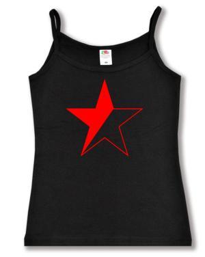 Trägershirt: Schwarz/roter Stern