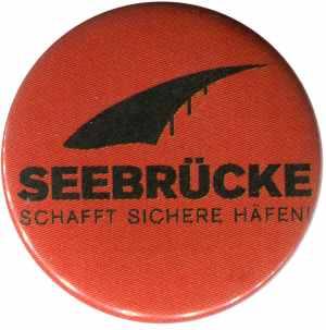 25mm Button: Seebrücke (schwarze Schrift)