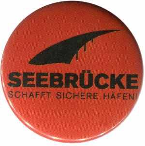 50mm Button: Seebrücke (schwarze Schrift)