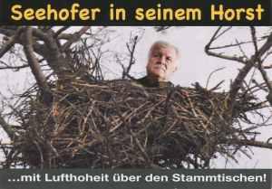 Postkarte: Seehofer in seinem Horst