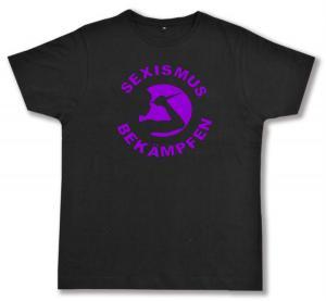 Fairtrade T-Shirt: Sexismus bekämpfen (lila)