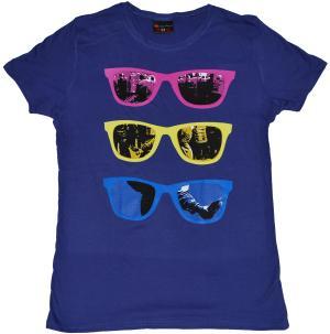 tailliertes T-Shirt: Shades purple