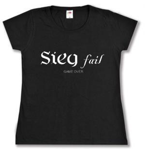 tailliertes T-Shirt: Sieg fail