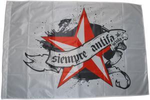 Fahne / Flagge (ca. 150x100cm): Siempre Antifascista