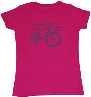 tailliertes T-Shirt: sitzend die Welt retten