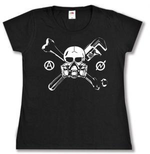 tailliertes T-Shirt: Skull - Gasmask
