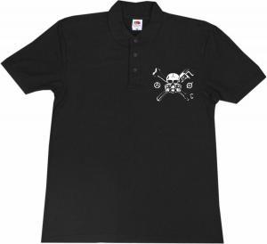 Polo-Shirt: Skull - Gasmask