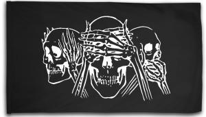 Fahne / Flagge (ca. 150x100cm): Skulls