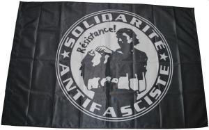 Fahne / Flagge (ca. 150x100cm): Solidarité Antifasciste