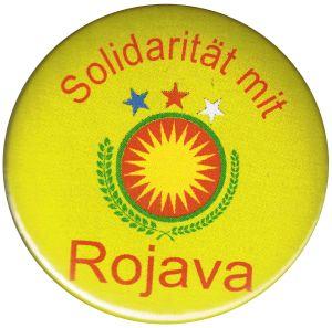 50mm Button: Solidarität mit Rojava