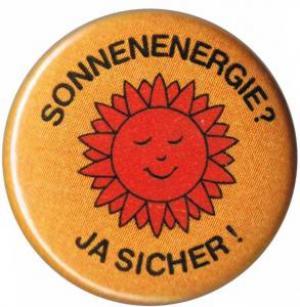 25mm Button: Sonnenenergie? Ja sicher!