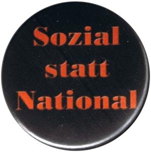 37mm Magnet-Button: Sozial statt National