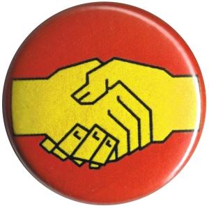 50mm Button: Sozialistischer Handschlag