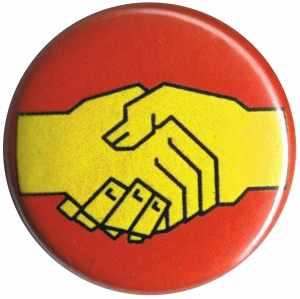 37mm Button: Sozialistischer Handschlag