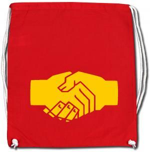 Sportbeutel: Sozialistischer Handschlag