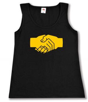tailliertes Tanktop: Sozialistischer Handschlag