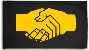 Fahne / Flagge (ca. 150x100cm): Sozialistischer Handschlag