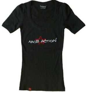 tailliertes T-Shirt: Starstitch 1 black