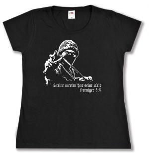 tailliertes T-Shirt: Steine werfen hat seine Zeit