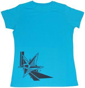 tailliertes T-Shirt: Stern