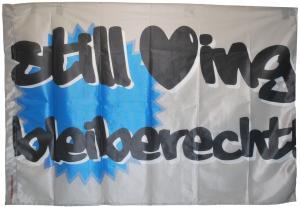 Fahne / Flagge (ca 150x100cm): still loving Bleiberecht