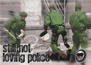Aufkleber-Paket: still not loving police