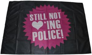 Fahne / Flagge (ca 150x100cm): Still not loving Police!