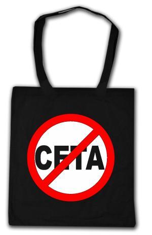 Baumwoll-Tragetasche: Stop CETA