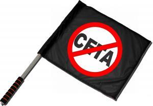 Fahne / Flagge (ca. 40x35cm): Stop CETA