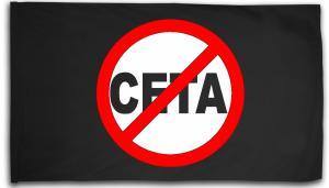 Fahne / Flagge (ca. 150x100cm): Stop CETA