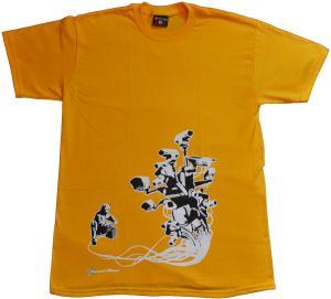T-Shirt: Stop Control gold