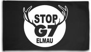 Fahne / Flagge (ca. 150x100cm): Stop G7 Elmau