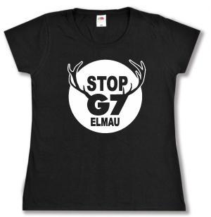 tailliertes T-Shirt: Stop G7 Elmau