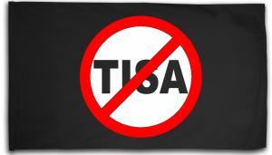 Fahne / Flagge (ca. 150x100cm): Stop TISA