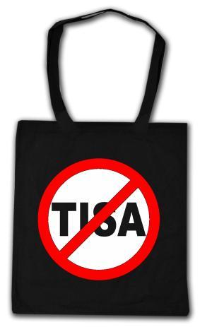 Baumwoll-Tragetasche: Stop TISA
