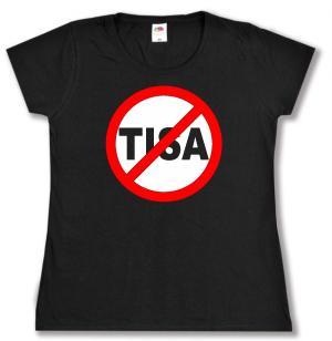 tailliertes T-Shirt: Stop TISA