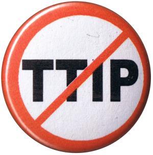 37mm Magnet-Button: Stop TTIP