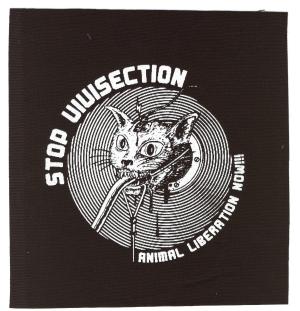 Aufnäher: Stop Vivisection! Animal Liberation Now!!!