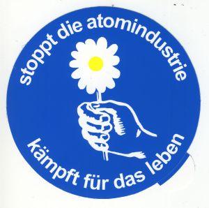 Aufkleber: Stoppt die Atomindustrie