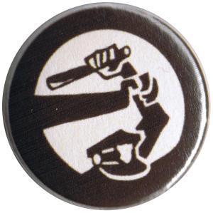 25mm Magnet-Button: Stoppt Polizeigewalt