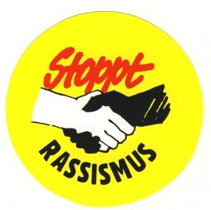 Aufkleber: Stoppt Rassismus