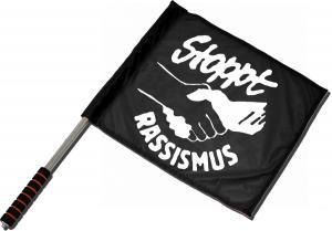 Fahne / Flagge (ca 40x35cm): Stoppt Rassismus