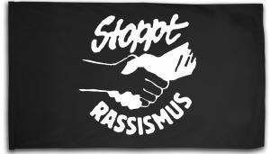 Fahne / Flagge (ca. 150x100cm): Stoppt Rassismus