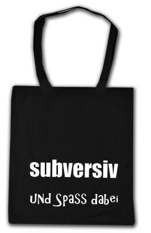 Baumwoll-Tragetasche: subversiv und Spass dabei