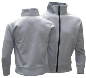Sweat-Jacket: Sweatjacke bonded - grey