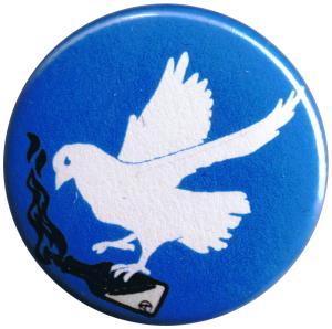 25mm Magnet-Button: Taube mit Molli