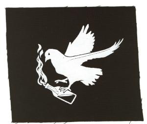 Aufnäher: Taube mit Molli